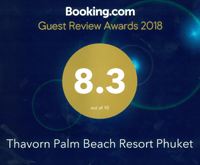 Award Guest Review Awards Thavorn Palm Beach Resort Phuket Booking.com 2018